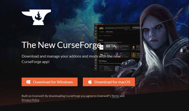 CurseForge Download Page